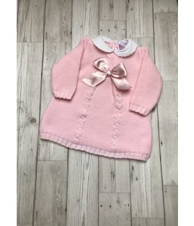 Baby girl bow knitted dress